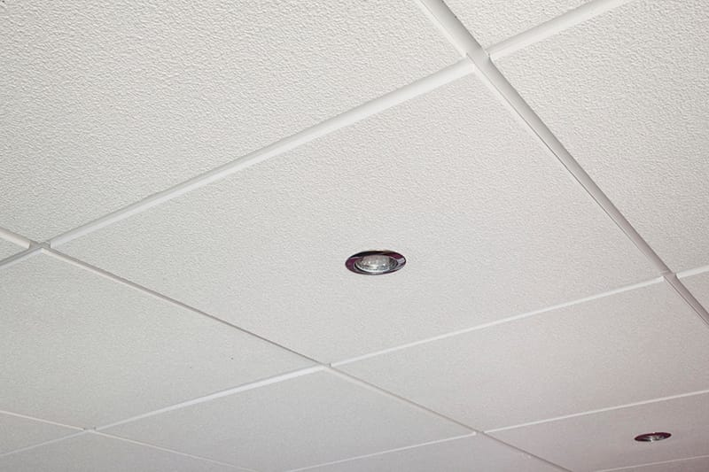 tegular ceiling example