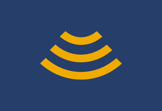 Blue and Gold Wifi Icon